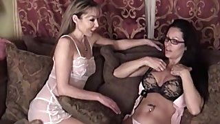 Mature lesbian MILF babes lick evermore others shaved pussies