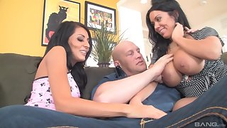 Step daddy sure loves the threesome regarding the training