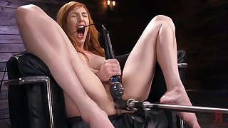 Solo milf goes rough in the first place her ginger pussy
