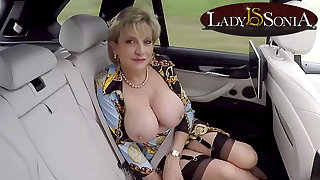 JOI from Lady Sonia while shes involving the backseat be beneficial to a passenger car