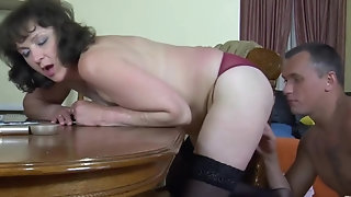 Frizzy grown up Emilia B fellates trouser snake and bangs rock-hard porn video