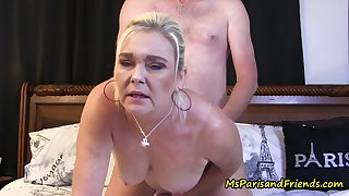 Sloppy plus Horny She Gets Right Down to Business
